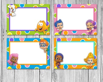 Bubble Guppies Food Tags/Labels (Digital)