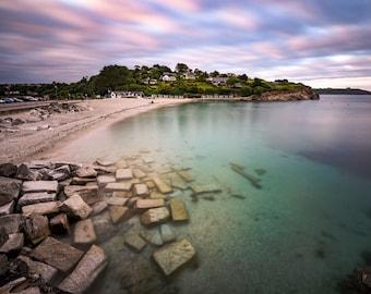 Swanpool Beach, Falmouth, Cornwall, Wall Art, Seascape Print | A2/A3/A4 sizes
