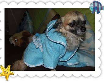 Bathrobe for small dog