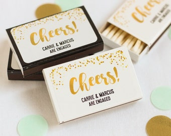 Personalized Wedding Matchbox Favors (set of 50)