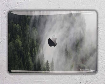 Forest nature trees landscape photography snow mountain fog 3 - MacBook Decal  Macbook Skin Apple MacBook Air Pro or Pro with Retina FSM261