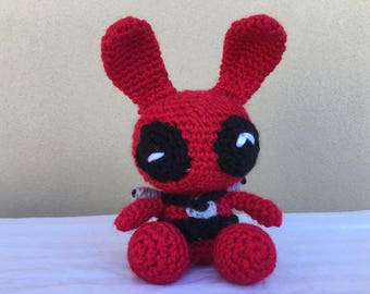 Crochet Bunny Joker Amigurumi Collectable Plush Toy