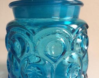 moon star lidded jar turquoise