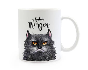 Gift coffee cup cat good morning TS358