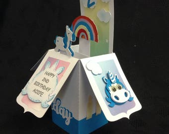 Handmade Unicorn Box Card