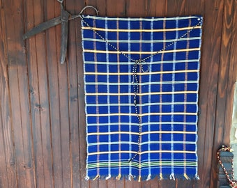 Wool apron, hand-woven woolen apron, Bulgarian national costume, hand-woven color apron