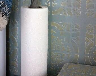 Handpainted paper towel holder