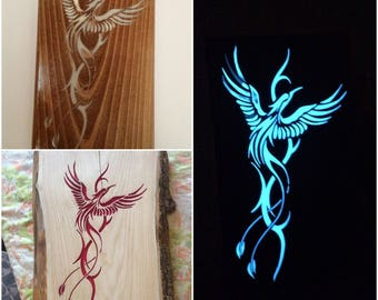 Fluorescent decorative painting