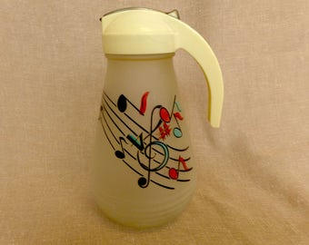 "Vintage 1950's Glass ""Musical"" Dispenser"