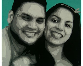 Hand painted portraits