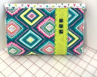 Wallet Purse with Velcro Closure and Removable Strap
