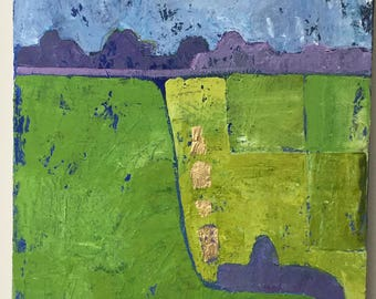 Original painting 'Abstract summer fields'