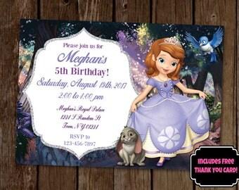 Sofia the First Invitation, Princess Sofia Invitation, Sofia the First Birthday Party, Printable Invitation