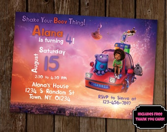 Home Birthday Invitation, Home Movie Invitation, Boov Birthday Party, Tip and Oh, Shake Your Boov Thing