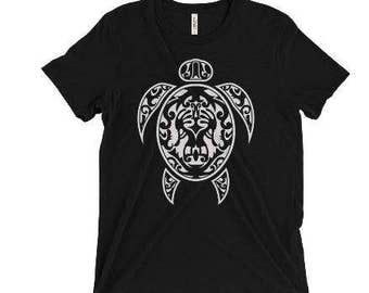 Men's Polynesian Kokopelli Turtle shirt, Kokopelli, tribal, hawaiian, men, island, fertility, polynesian