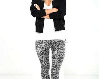 Leggings Printed - White Leopard Print Leggings - Sizes:Small, Medium, Large, 1X, 2X, 3X
