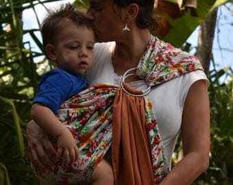 Rings (ring sling) shoulder reversible cotton to load to your baby.