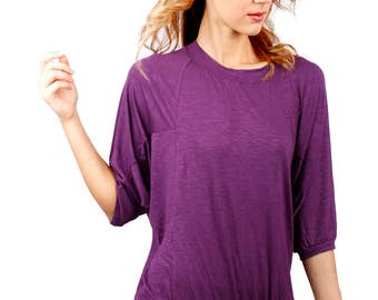 Batwing sleeves with fitted waist hem - Juliet Top