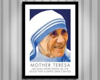 Mother Teresa, motivational, Inspirational, Self Development, Personal Development, Poster