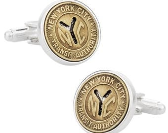 Authentic New York City Subway Token Cufflinks