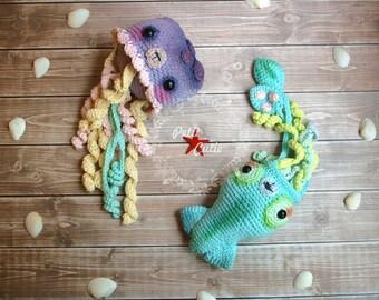 squid toy, calamary toy,calamary amigurumi, squid amigurumi,crochet toy,crochet squid,jellyfish toy, crochet jellyfish,amigurumi jellyfish