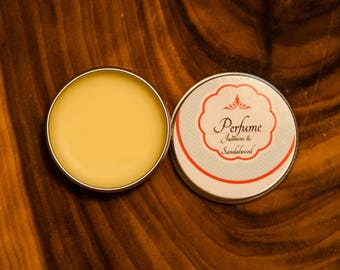 Solid Perfume, Jasmine and Sandalwood, Frangipani, all natural, chemical free, organic ingredients.