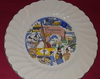 Virginia state souvenir plate