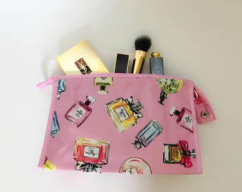 Perfume bottles makeup bag