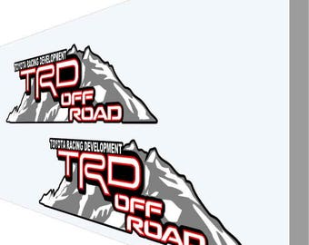 TRD Off Road Mountain Decals Stickers 4X16 V20 Tundra Tacoma Sport 4X4 Toyota Vinyl OEM Replacement