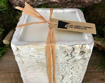 Concrete Birch Bark Candle