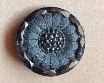 Vintage glass Button