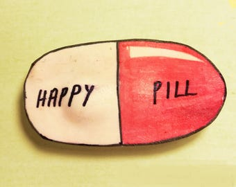 HAPPY PILL Brooch Pin