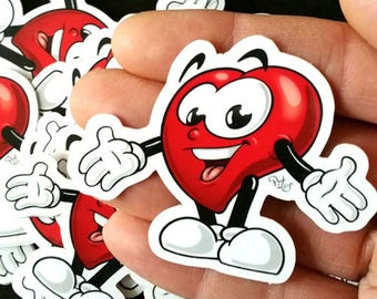 Cute heart sticker