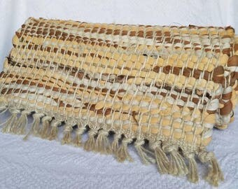 Vintage Woven Rug / Vintage Table Runner / Wall Hanging