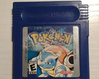 Original 1996 Pokemon Blue Nintendo Game Boy Game