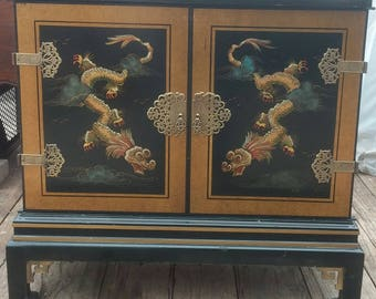 Japanese Black Lacquer Cabinet