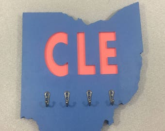 Ohio Wood Sign Team Cleveland Cavs Tribe Browns Indians Cavaliers