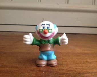 Vintage plastic clown about figure professor 1981