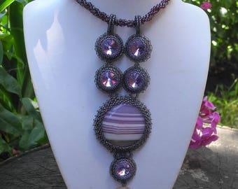 "Necklace-tie ""Lilac"" handmade"