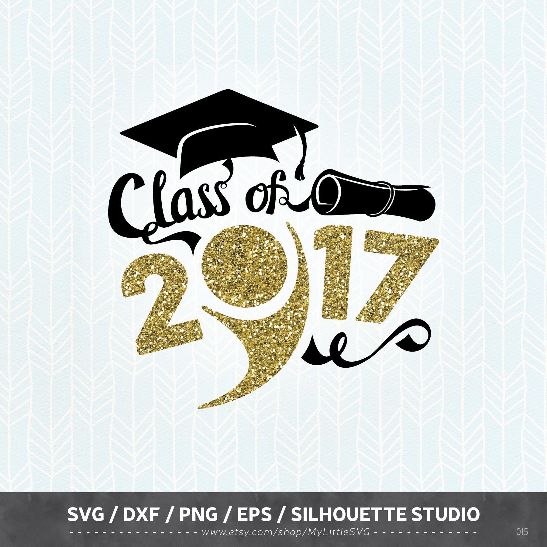 Graduation Svg Files Graduation 2017 Dxf Png Eps For