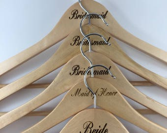 Wedding Party Set Of 7 Clothes Hangers