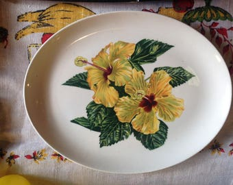 Hibiscus serving platter