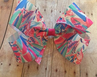 "Lilly Pulitzer Inspired 5"" hair bow"