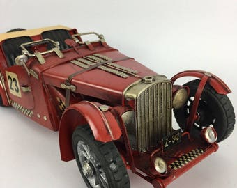 Classic British old fashioned racing model car