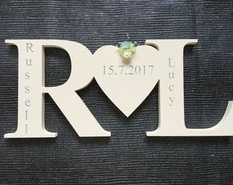 Free standing personalised initials
