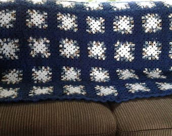 Granny square afghan.