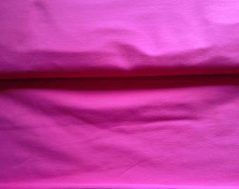 Pink solid cotton lycra jersey knit fabric, pink jersey, hot pink jersey, fuschia jersey, 4 way stretch jersey knit fabric in pink