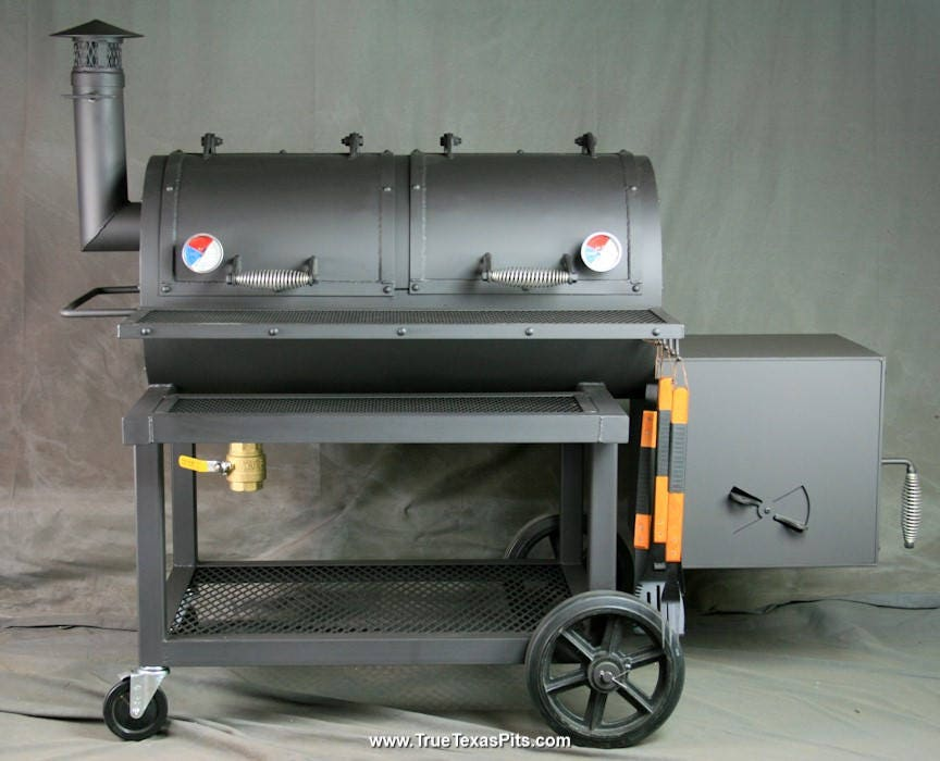 offset smoker heavy duty offset smoker texas bbq smoker. Black Bedroom Furniture Sets. Home Design Ideas
