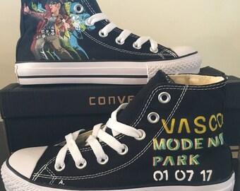 Custom hand painted converse, Vasco Rossi