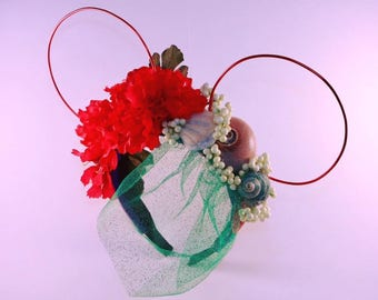 Little Mermaid Wire/Floral Ears